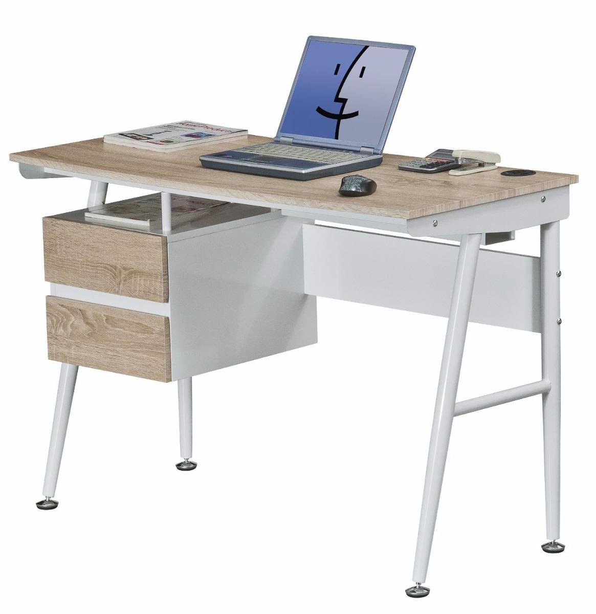 Escritorio clasico oficina computadora mueble madera acero for Escritorio mueble oficina