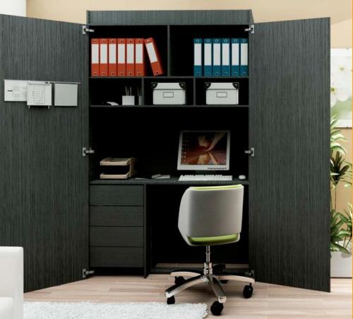 escritorio oficina tipo placard puertas cerradura multiuso