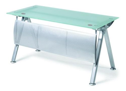 escritorio oficina y hogar  con sobre de vidrio modelo bg-26