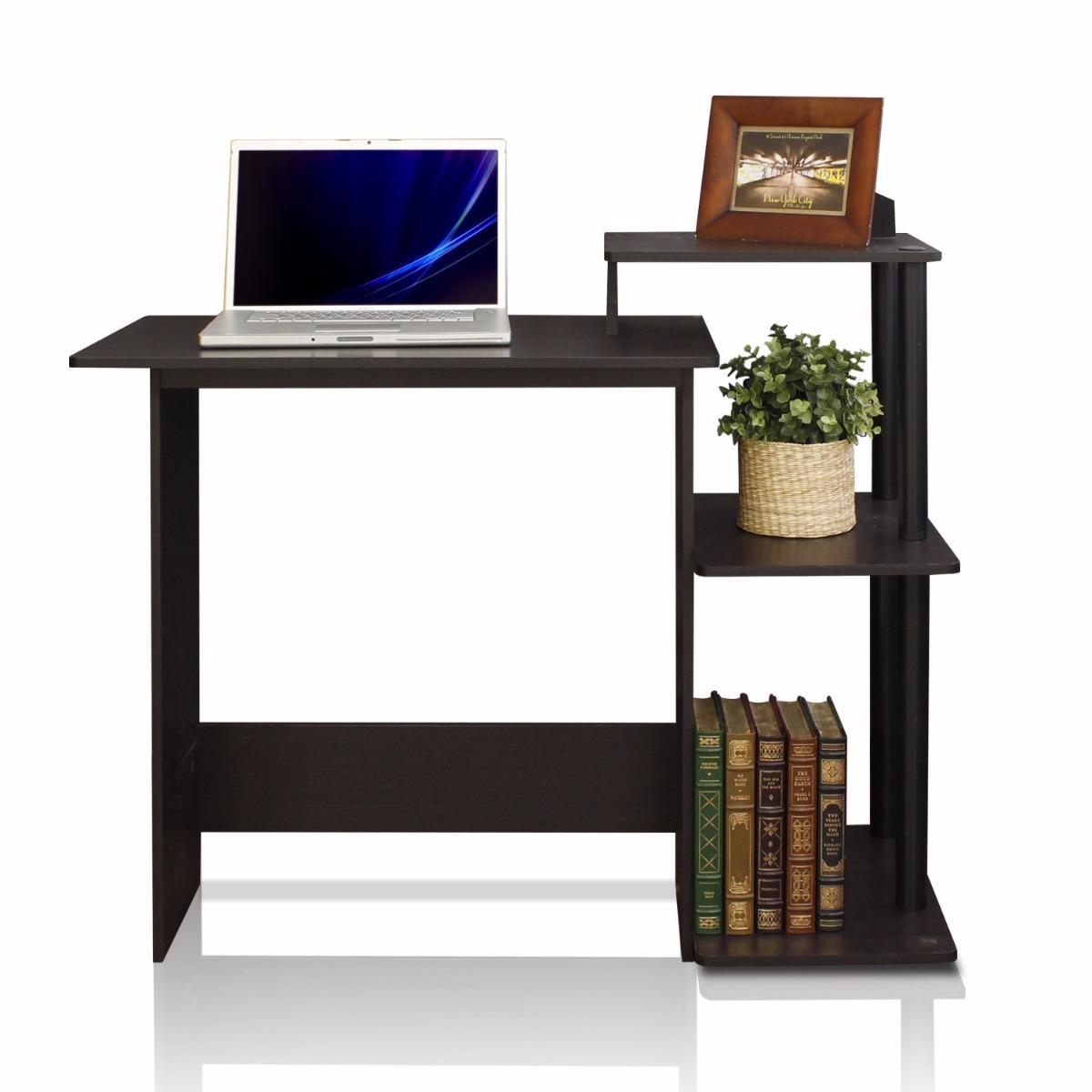 Escritorio para computadora negro espresso en for Escritorio para computadora