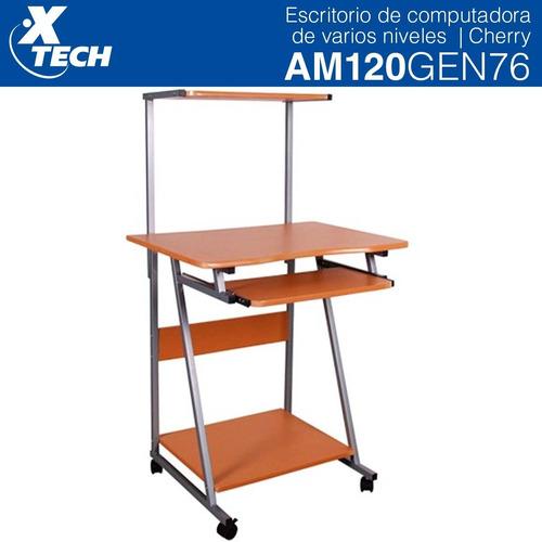 escritorio para computadora  xtech 3 niveles cafe am120gen76