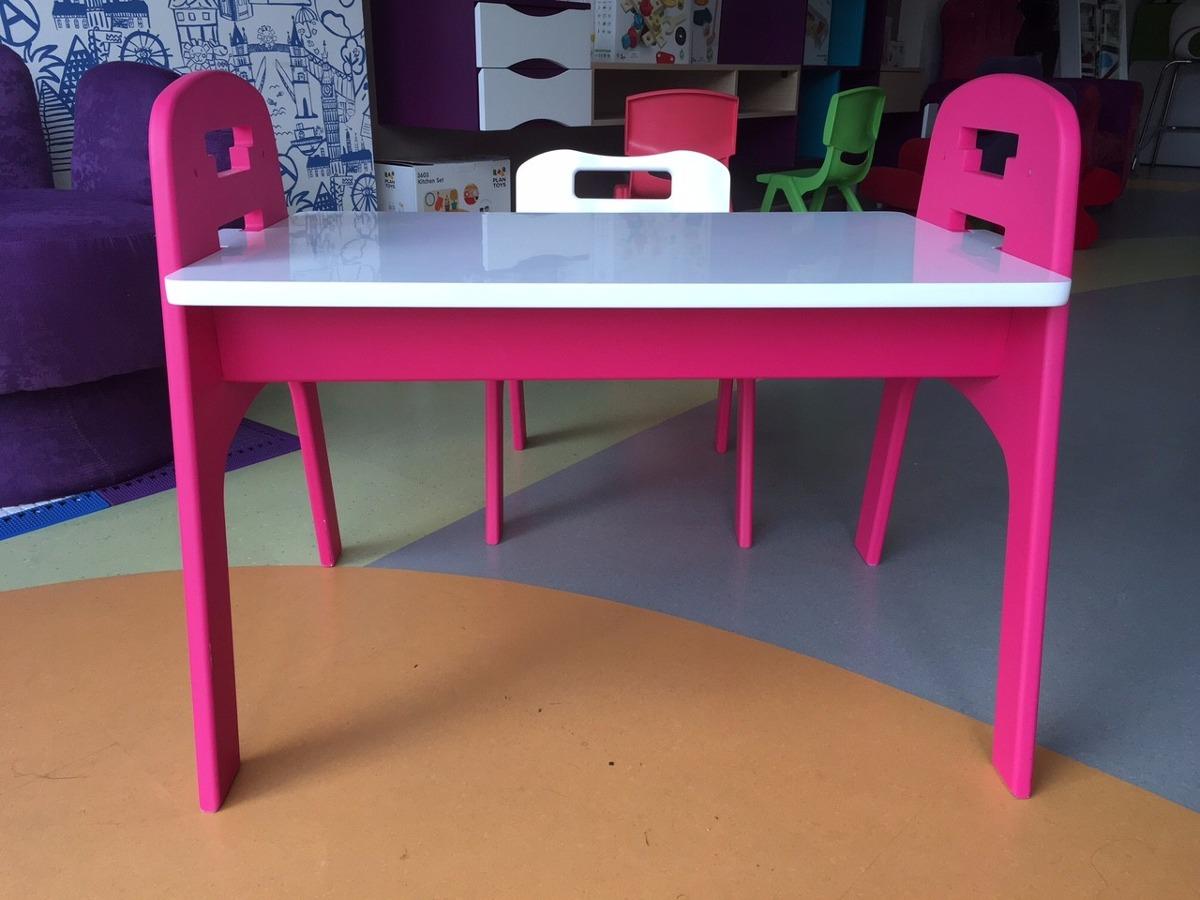 Escritorio para ni os grew silla y mesa rosado y blanco en mercado libre - Sillas escritorio ninos ...