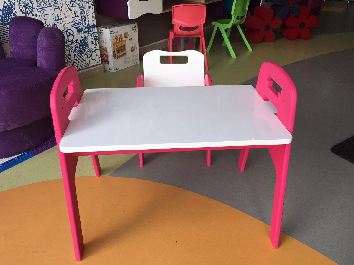 escritorio para nios grew silla y mesa rosado y blanco