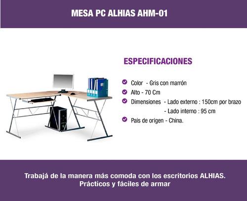 escritorio para pc ahm-01 alhias