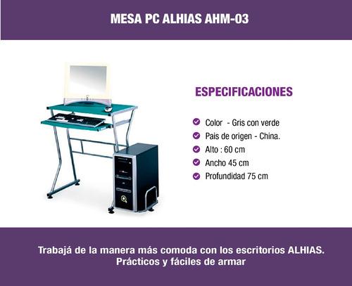 escritorio para pc ahm-03 alhias - depot center