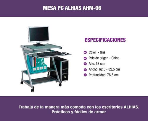 escritorio para pc ahm-06 alhias - depot center