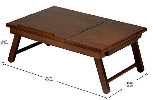 escritorio para regazo madera encantadora alden sólidomadera