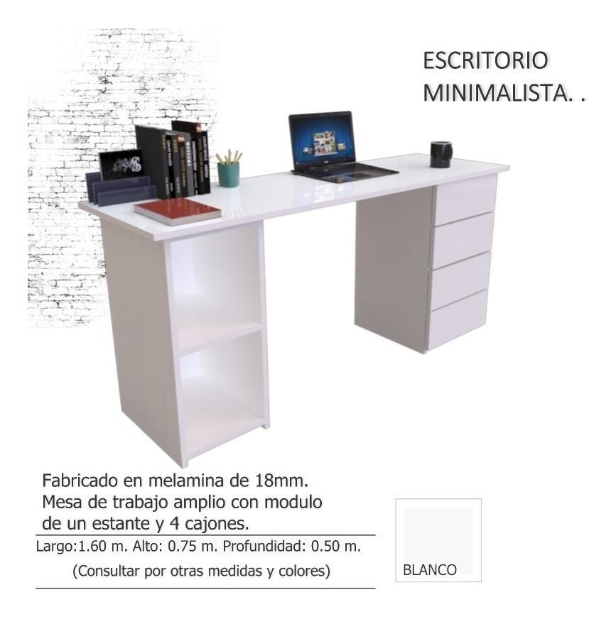 eb940f9a715 Escritorio Pc, Moderno 1.60 X 0.50. Con 4 Cajones - $ 4.200,00 ...