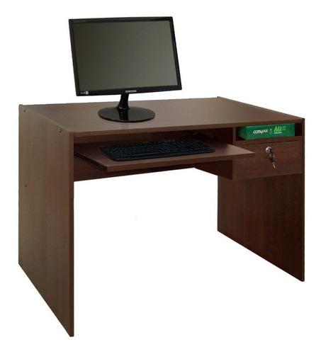 escritorio pc platinum mod 400 1 mt con  bandeja y cajón