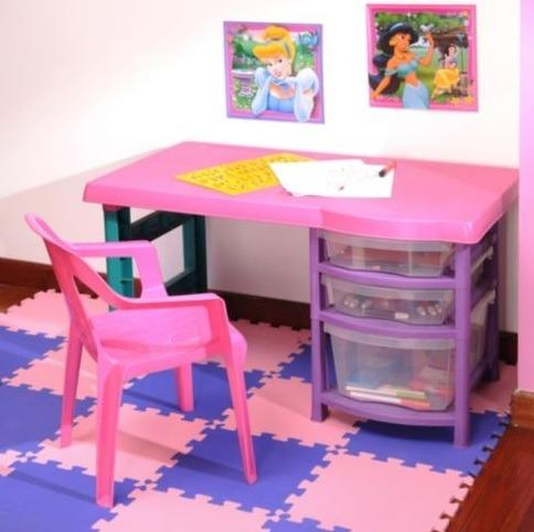 escritorio plstico infantil vanity rimax para nia