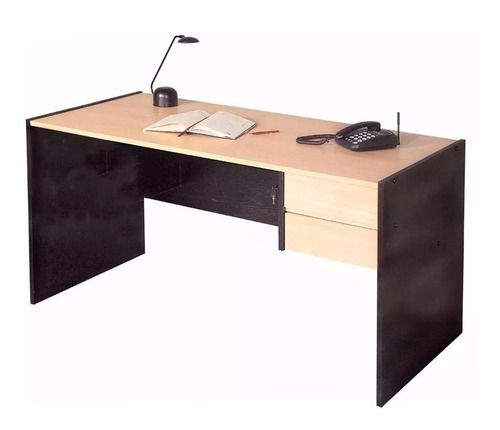 escritorio platinum 4020 1,24mts cajones cerradura melamina