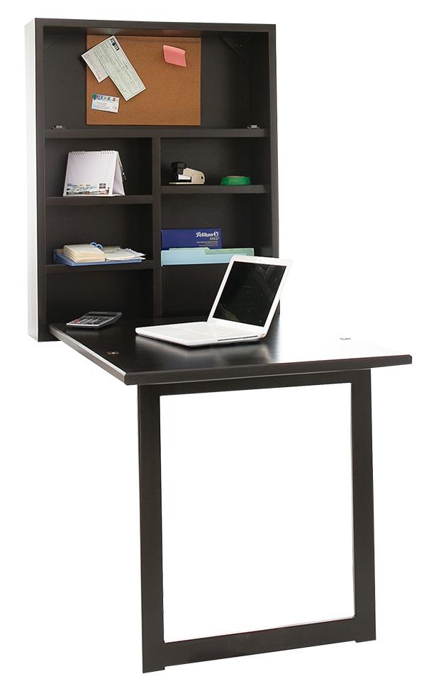 Escritorio plegable ahorra espacio madera mueble for Escritorios de diseno para casa