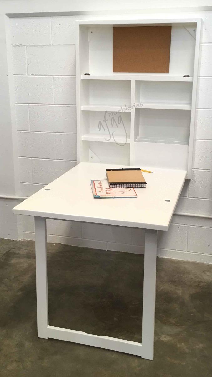 Escritorio Pared Abatible Mesa Librero Plegable Blanco Choco ZiuOPkX