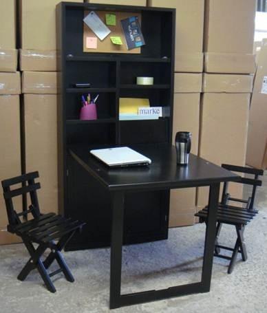 Escritorio plegable con 2 sillas 3 en mercado for Sillas con apoyabrazos escritorio