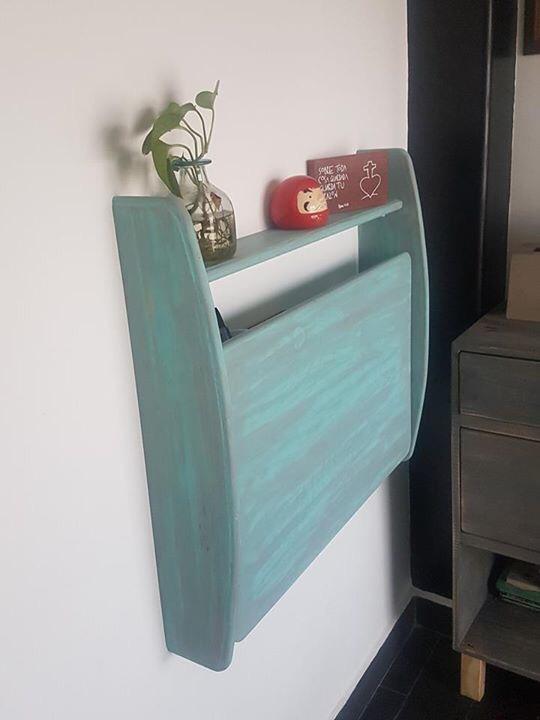 Escritorio plegable de madera ideal para espacios peque os - Escritorios para espacios reducidos ...