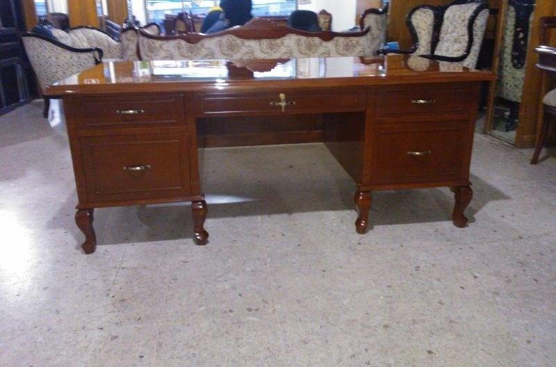 Escritorio provenzal mod londres en madera fina 24 200 - Modelos de escritorios de madera ...
