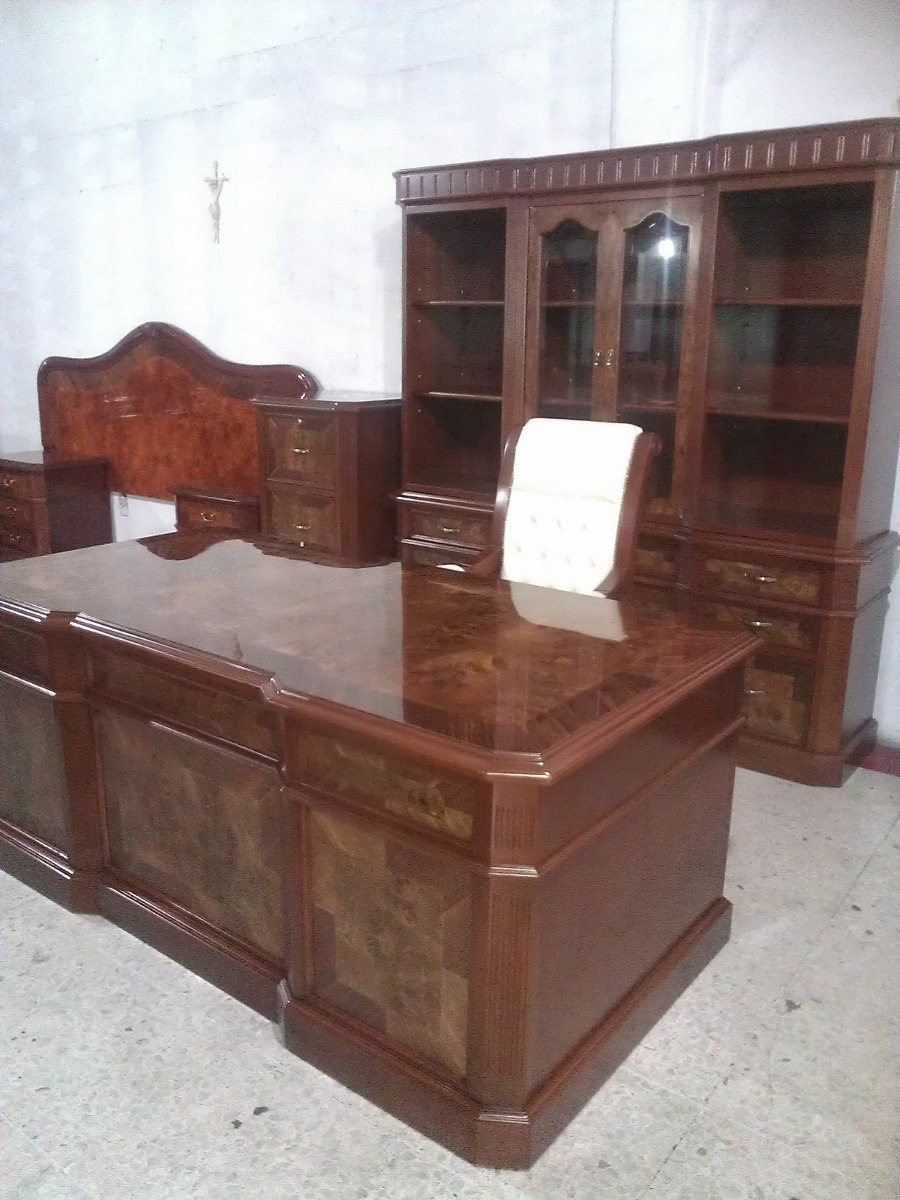 Escritorio provenzal modelo lincoln en cedro rojo - Modelos de escritorios de madera ...