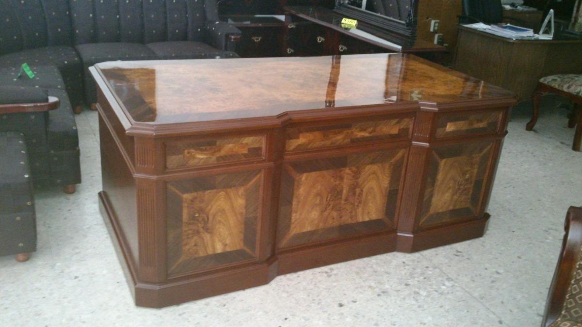 Escritorio provenzal modelo lincoln en madera fina for Escritorios de madera para oficina
