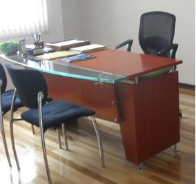 Muebles De Oficina De Madera.Escritorio Puesto Trabajo Gerencial Madera Mueble Oficina