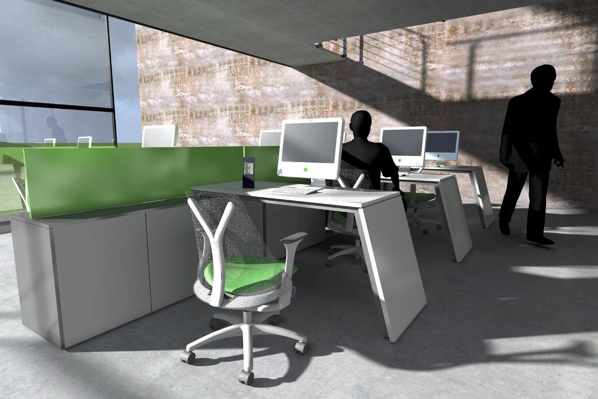 Escritorio Puestos De Trabajo Modernos Diseño Laqueados - $ 51.565 ...