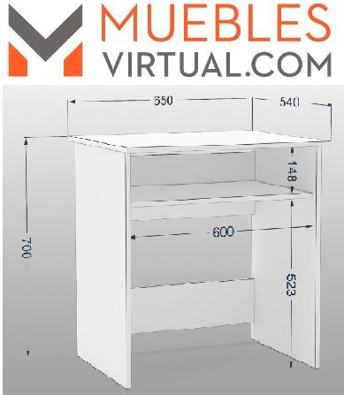 escritorio / rack para pc / computadora con estante simple