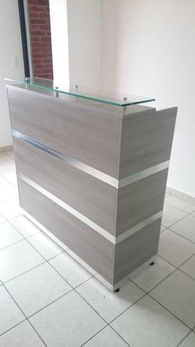 escritorio recepcion recta de 1.20 de largo