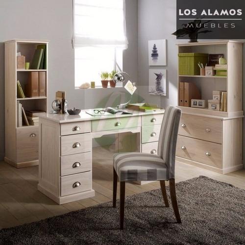 escritorio recto 8 cajones los alamos muebles