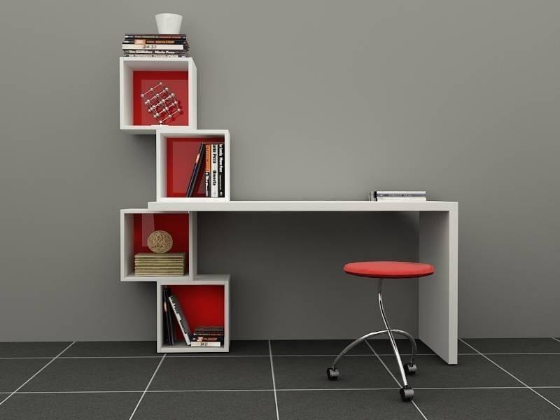 Escritorio ref real con cubos moderno lacado poliuretano for Plano escritorio melamina