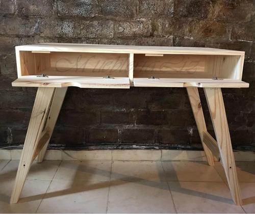 escritorio retro vintage ame nórdico de 120 cm con puertas