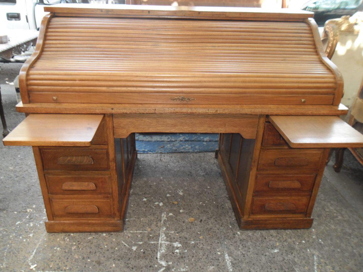Escritorio rolltop antiguo original madera impecable - Venta de escritorios antiguos ...