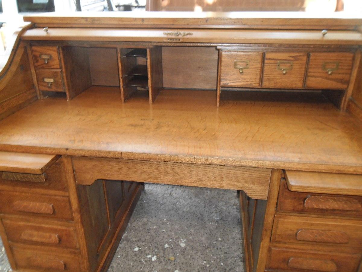 Escritorio rolltop antiguo original madera impecable en mercado libre - Escritorios de madera ...