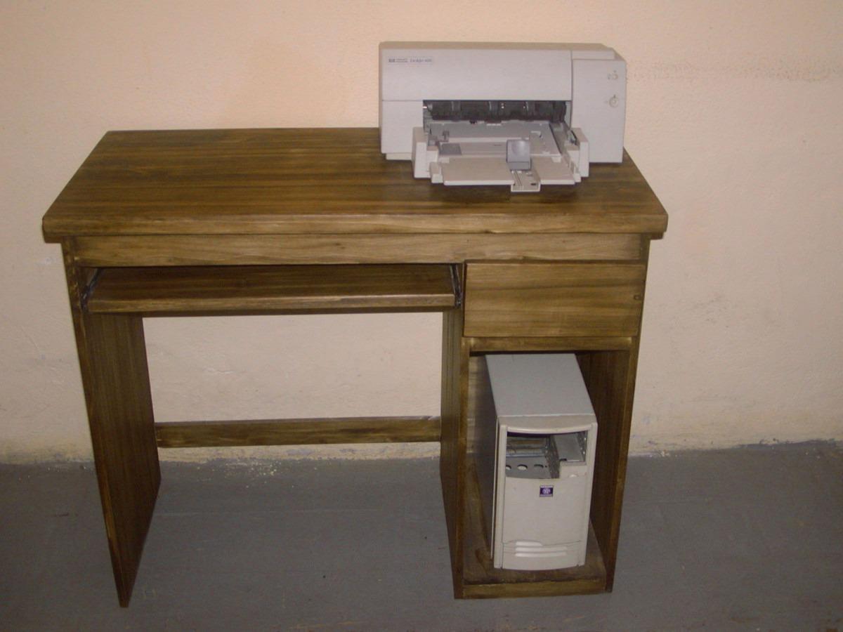 Escritorio r stico con 4 cajones o para pc for Escritorios rusticos para oficina
