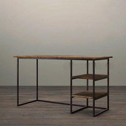 escritorio rustico madera maciza moderno fuerte tdo ambiente