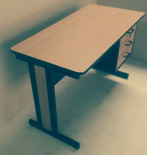 escritorio secretarial 3 gavet base metalic120x60x75 nuevo