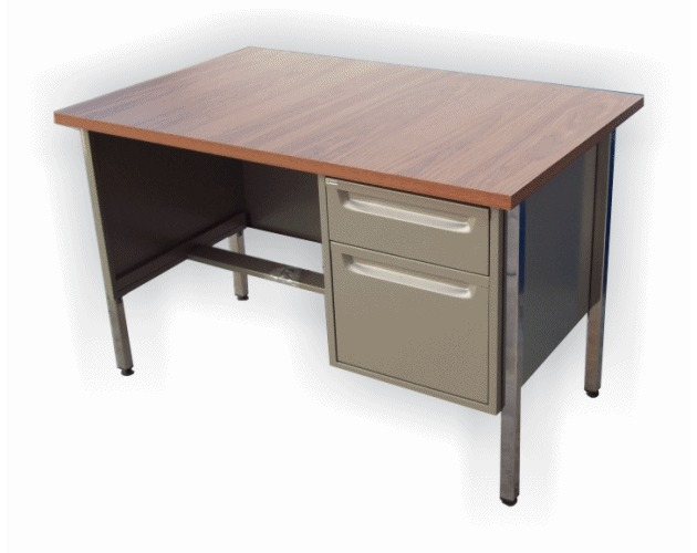 Escritorio secretarial 70 x con cajones metalico for Escritorio de oficina precio
