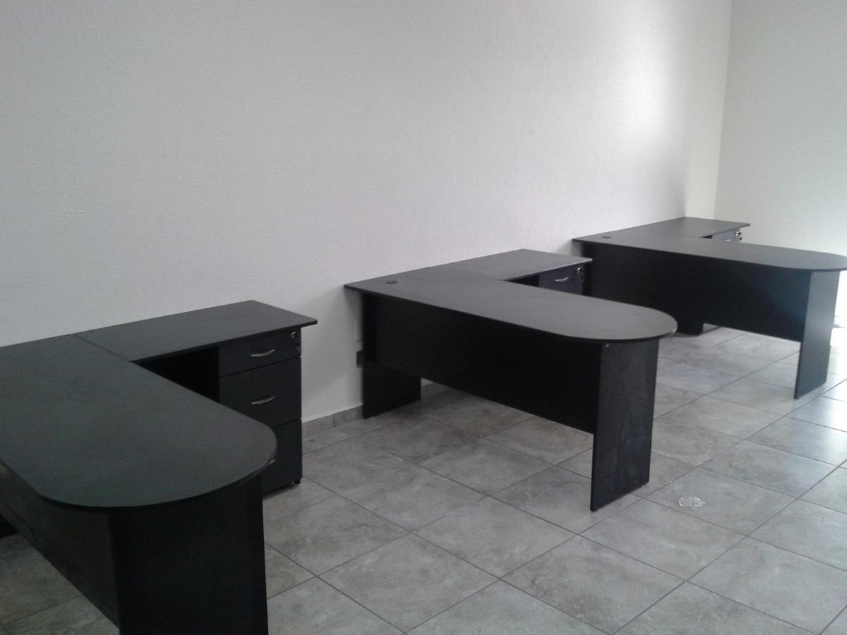 Escritorio tipo bala modulo l archivero funcional for Proveedores de escritorios para oficina