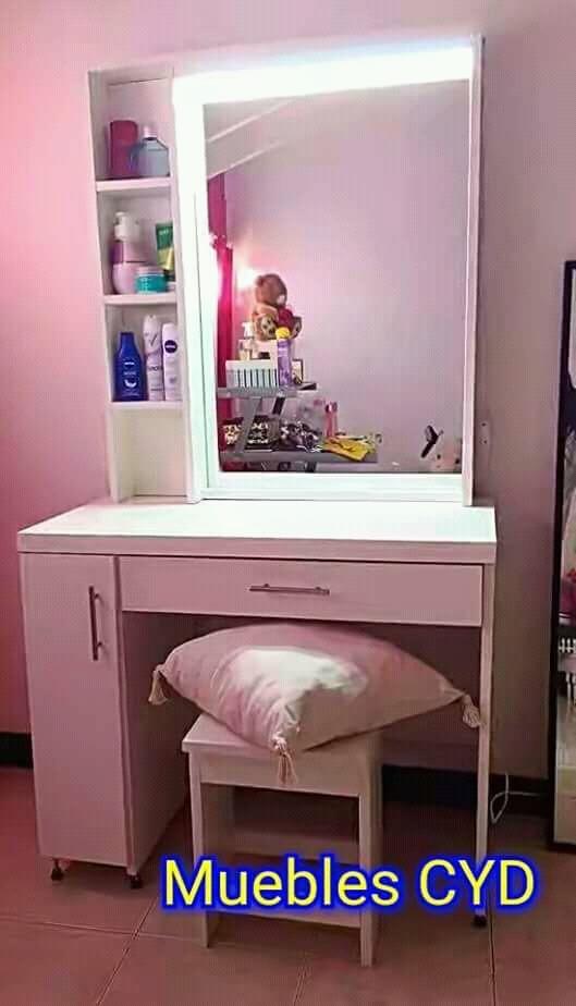 Escritorio Tocador Espejo Para Maquillaje Luz Led 5 700 00 En