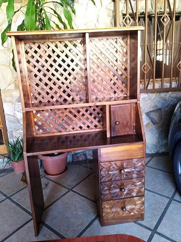 escritorio y biblioteca madera magdaleno