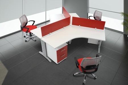 Escritorios ahd modulo para 4 personas for Modulos de oficina
