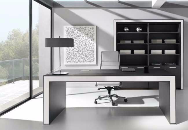 Escritorios de oficina escritorio minimalista mesas for Mobiliario de oficina minimalista