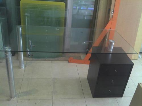 escritorios en vidrio  madera a medida solo en cristalcenter