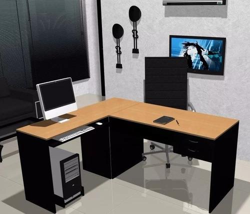 escritorios l blanco lado a mesas de pc cod: 004-fan  -021