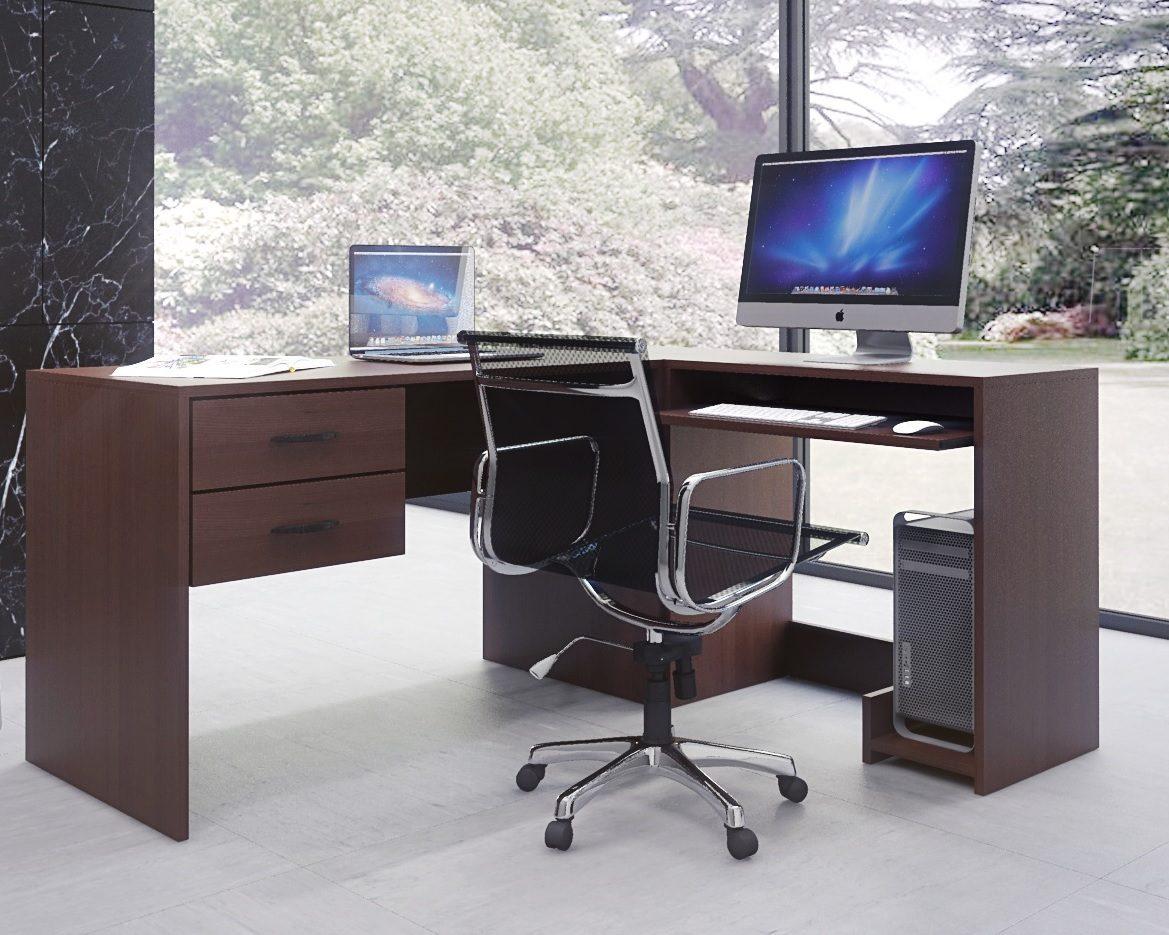 Mesas de escritorio grandes dos escritorios de pared a for Escritorios usados baratos
