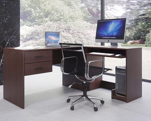 escritorios l lado b wengue mesa de pc cod: 004-fan  -022