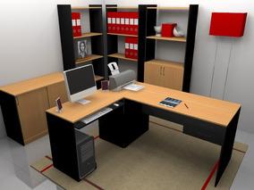 Escritorios Mesas Pc Muebles De Oficina Combo 011-combo-200