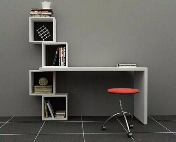 Escritorios modernos melamine s 490 00 en mercado libre - Mueble escritorio moderno ...