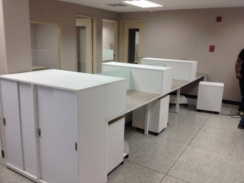 Muebles Oficina Modernos.Escritorios Operativos Tipo Isla Muebles De Oficina Modernos