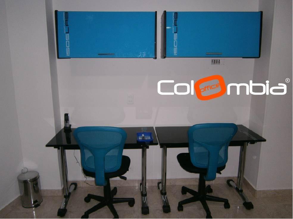 Escritorios para oficina estudios en vidrio formica for Escritorios para oficina dimensiones