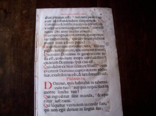 escritos en latin antiguos con notas musicales 54 x 42