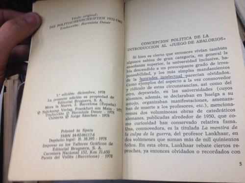 escritos politicos 1932/1962 - hermann hesse - ed. bruguera